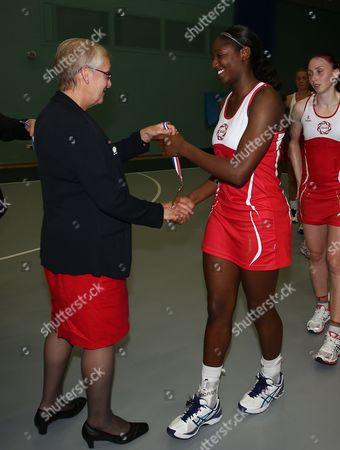 Kadeen Corbin of England Netball Receives Her Medal Gb Worcester