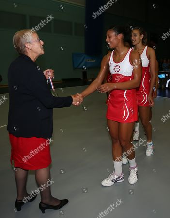 Stacey Francis of England Netball Receives Her Medal Gb Worcester