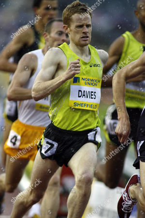 Stephen Davies of Great Britain competing in the men's 1500m