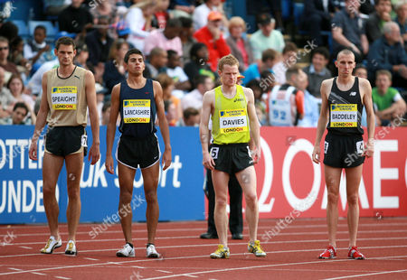 Neil Speaight, Tom Lancashire, Stephen Davies and Andrew Baddeley of Great Britain in the Men's 1500m