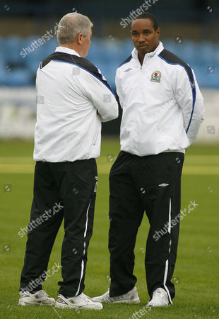 Blackburn Rovers manager Paul Ince with coach Archie Knox