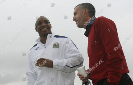 Blackburn Rovers manager Paul Ince with newly appointed defensive coach Nigel Winterburn