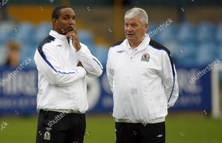 The new Blackburn Rovers manager Paul Ince and assistant coach Archie Knox