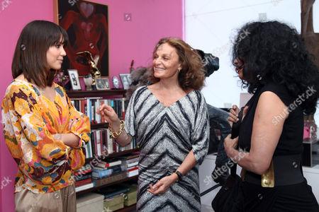 Jessica Alba, Diane von Furstenberg and Diana Ross