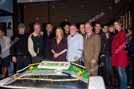 CSI Cast - William Peterson, Laurence Fishburne, Marg Helgenberger, Robert David Hall, Paul Guilfoyle, Eric Szmanda and Lauren Lee Smith