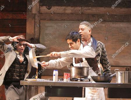Neet Mohan (Egg-Nog), Sacha Dhawan (Mushi), Aaron Neil (Attar)