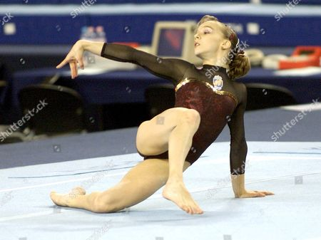 Debrecen Hungary : Spanish Elena Gomez Performs on the Floor During the Final of the 36th World Gymnastics Championships in Debrecen on Sunday 24 November 2002 Gomez Won the Event