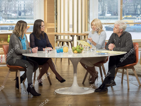 Shona Sibary and Karen Danczuk with Phillip Schofield and Holly Willoughby