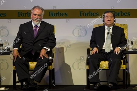 Stock Photo of Session Iii Panel Speakers For Forbes Global Ceo Conference Herbert V Kohler Jr (l) Chairman and Ceo Kohler Co and Fu Jun President and Ceo Macrolink Group in Kuala Lumpur Malaysia 13 September 2011 Many of the World's Most Influential International Business and Thought Leaders Are Gathering in Malaysia For the 11th Annual Forbes Global Ceo Conference Malaysia Kuala Lumpur