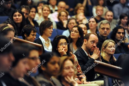 Friends Family and Colleagues Listen During a Press Conference For Nobel Prize Winner in Physiology Or Medicine Ralph M Steinman of Canada Nobel Prize Winner in Physiology Or Medicine Speak in His Lab at the Rockefeller University in New York New York Usa on 03 October 2011 Steinman who Died on 30 September 2011 From of Pancreatic Cancer the Nobel Prize was Divided One Half Jointly to Bruce a Beutler of the Us and Jules a Hoffmann of France 'For Their Discoveries Concerning the Activation of Innate Immunity' and the Other Half to Ralph M Steinman 'For His Discovery of the Dendritic Cell and Its Role in Adaptive Immunity United States New York
