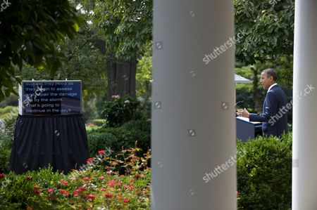 Stock Image of Us President Barack Obama Delivers Remarks on His Nomination of Alan Krueger (unseen) to Head the Council of Economic Advisers During an Event in the Rose Garden at the White House in Washington Dc Usa 29 August 2011 Krueger if Confirmed by the Senate Will Replace Austan Goolsbee who Left the Administration Earlier This Month United States Washington