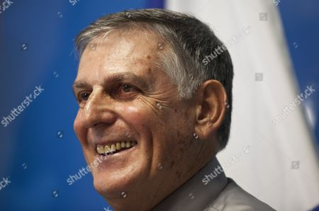 Israeli Scientist Daniel Shechtman Smiles During a Press Conference at the Haifa Technion Israel on 05 October 2011 Dan Shechtman Winner of the 2011 Nobel Chemistry Prize Said 05 October That After the Royal Swedish Academy of Sciences Called to Inform Him of His Award He Told No One But His Wife But Once the Official Announcement was Made 'All Hell Broke Loose ' Shechtman a Professor at the Haifa Technion Israel Institute of Technology was Awarded the Prize For the Discovery of Quasicrystals Israel Haifa