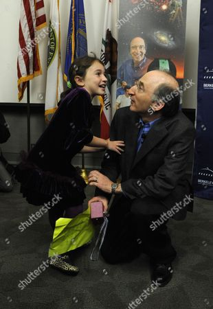 Astrophysics Professor Saul Perlmutter and His Daughter Noa (l) After His Press Conference at the University of California at Berkeley California Usa 04 October 2011 After He was Awarded the Nobel Prize in Physics the Nobel Prize in Physics was Awarded with One-half to Saul Perlmutter and the Other Half Jointly to Brian P Schmidt and Adam G Riess 'For the Discovery of the Accelerating Expansion of the Universe Through Observations of Distant Supernovae ' United States Berkeley