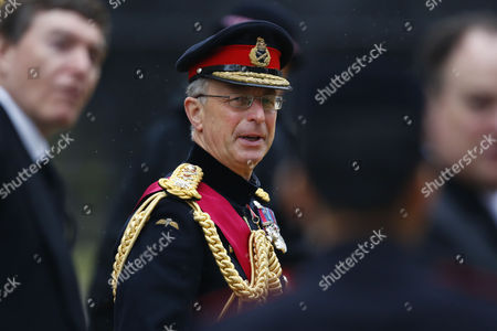 The Head of the British Army General Sir David Richards Attends the Funeral Service of Former British Prime Minister Margaret Thatcher at St Paul's Cathedral in Central London 17 April 2013 Baroness Thatcher Died After Suffering a Stroke at the Age of 87 on 08 April 2013 United Kingdom London