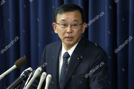 Japanese Justice Minister Sadakazu Tanigaki Speaks During a Press Conference at the Justice Ministry in Tokyo Japan 21 February 2013 Japan Hanged Three Death-row Inmates on 21 February in the First Executions Under Prime Minister Shinzo Abe's Government a Local Media Reported the Executions Were the First Since September 2012 Japan and the United States Are Among the Few Major Industrialized Democracies That Still Impose Death Sentences Japan Tokyo