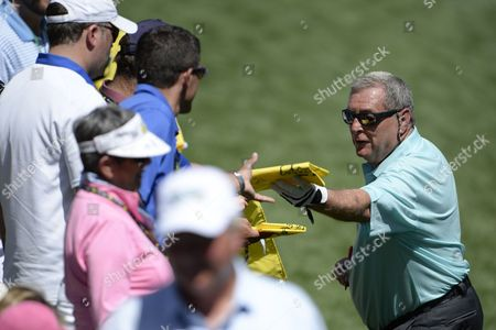 Fuzzy Zoeller of the Us Signs Autographs During the Par 3 Contest After the Final Practice Round of the 2013 Masters Tournament at the Augusta National Golf Club in Augusta Georgia Usa 10 April 2013 the Masters Tournament Will Be Held 11 April Through 14 April 2013 United States Augusta