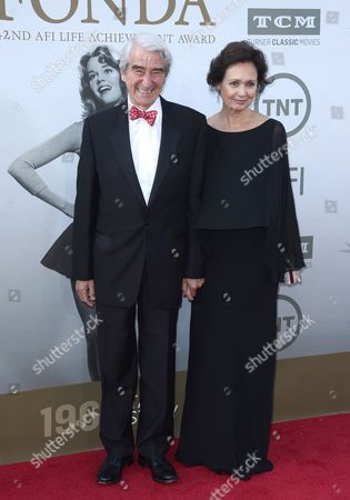 Us Actor Sam Waterston (l) and Wife Lynn Louisa Woodruff (r) Arrive For the American Film Institute Lifetime Achievement Award Gala at the Dolby Theatre in Hollywood California Usa 05 June 2014 the American Film Institute Presented Jane Fonda with It's 42nd Life Achievement Award America's Highest Honor For a Career in Film United States Hollywood