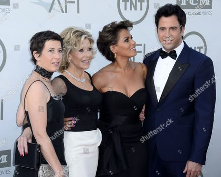 Us Actress Jane Fonda (2-l) Along with Daughter French Director Vanessa Vadim (l) Son Us Actor Troy Garity (r) and Garity's Wife Simone Bent (2-r) Arrive For the American Film Institute Lifetime Achievement Award Gala at the Dolby Theatre in Hollywood California Usa 05 June 2014 the American Film Institute Presented Jane Fonda with It's 42nd Life Achievement Award America's Highest Honor For a Career in Film United States Hollywood