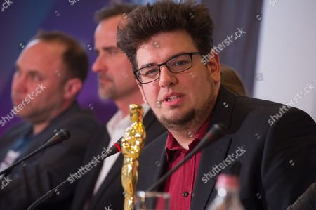 Editorial picture of Oscar-winner Kristof Deak during press conference in Budapest, Hungary - 08 Mar 2017