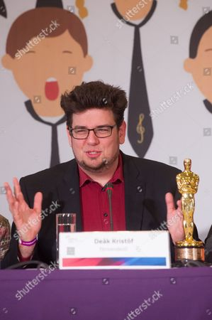 Editorial photo of Oscar-winner Kristof Deak during press conference in Budapest, Hungary - 08 Mar 2017