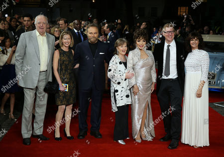 Stock Image of Tim Rice, Franco Nero, Pauline Collins, Joan Collins, Roger Goldby and Sian Reeves
