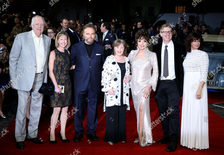 Stock Photo of Tim Rice, Franco Nero, Pauline Collins, Joan Collins, Roger Goldby and Sian Reeves