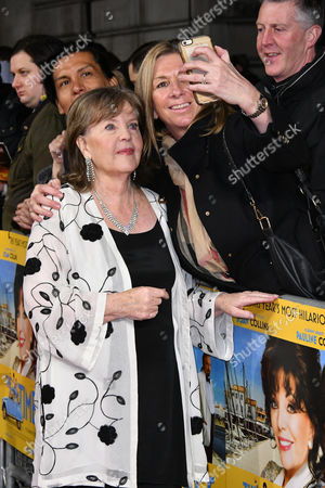 Pauline Collins and fan