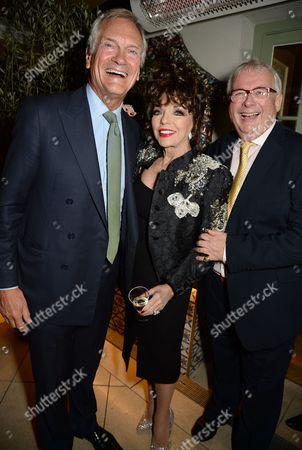 Charles Delevingne, Dame Joan Collins and Christopher Biggins