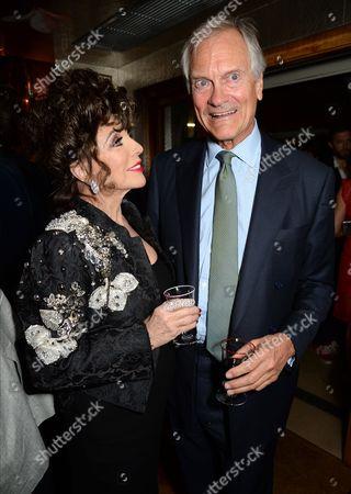 Dame Joan Collins and Charles Delevingne