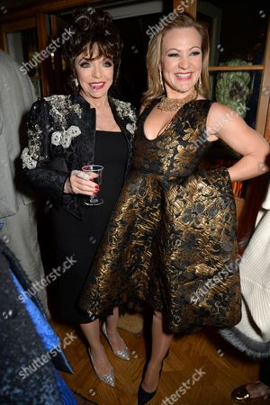 Stock Picture of Dame Joan Collins and Allene Quincy