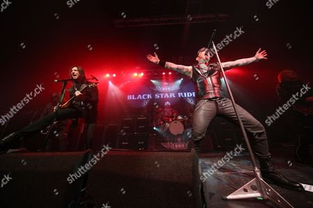 Stock Photo of Black Star Riders - Robbie Crane, Damon Johnson, Jimmy DeGrasso, Ricky Warwick and Scott Gorham