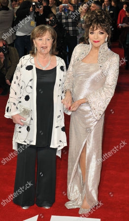 Stock Photo of Pauline Collins and Dame Joan Collins