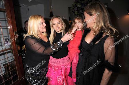 Vanessa Feltz, Allegra Feltz and Imogen Edwards-Jones with daughter