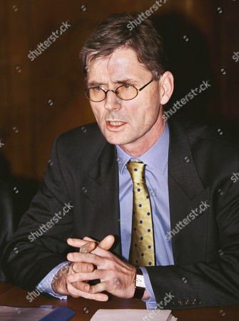 Head of Osce Mission in Chechnya Kim Traavik Speaks at His Meeting with Russian Deputy Foreign Minister Yevgeny Gusarov in Russian Foreign Ministry Office in Moscow Russia 11 November 1999 Kim Traavik Described Refugee Problem As Serious Russian Federation Moscow