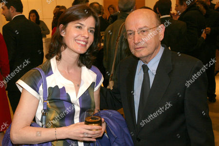 Stock Image of Irene Jacob and Theodoros Angelopoulos