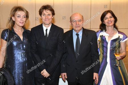 Mrs Vardinoyianni, Willem Dafoe, Theodoros Angelopoulos and Irene Jacob