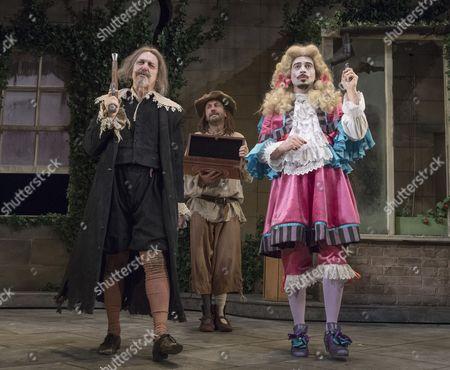 Griff Rhys Jones as Harpagon, Lee Mack as Maitre Jaques, Ryan Gage as Cleante