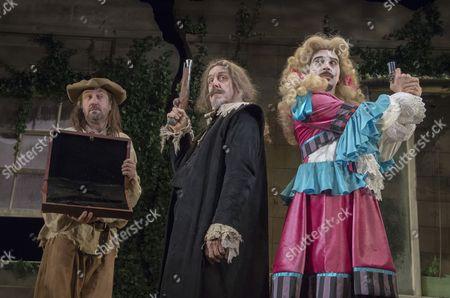 Lee Mack as Maitre Jaques, Griff Rhys Jones as Harpagon, Ryan Gage as Cleante
