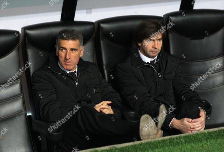 Ac Milan Assistant Coaches Mauro Tassotti and Filippo Galli Italy Milan