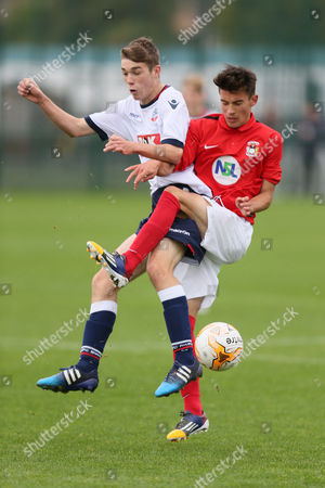 Bolton Wanderers Matthew Marsh During the Match Between Bolton Wanderers U18s and Coventry City U18's Played at the Rostock Training Ground Bolton United Kingdom Bolton