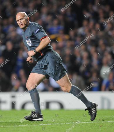 Referee Tom Henning Ovrebo United Kingdom London