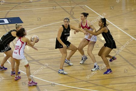 Mia Ritchie of England A Holds the Ball Gb London