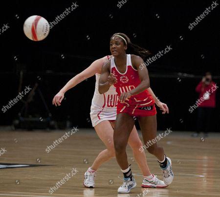 Sasha Corbin of England Netball in Action Gb London
