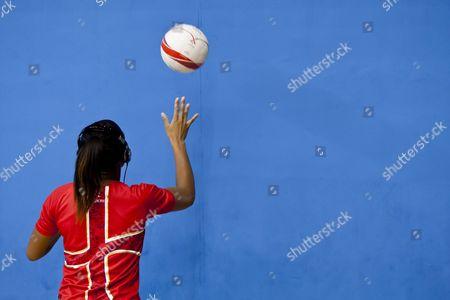 Eboni Beckford - Chambers of England Netball Warms Up Gb London