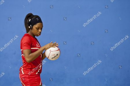 Eboni Beckford - Chambers of England Listens to the Music During the Warm Up Gb London