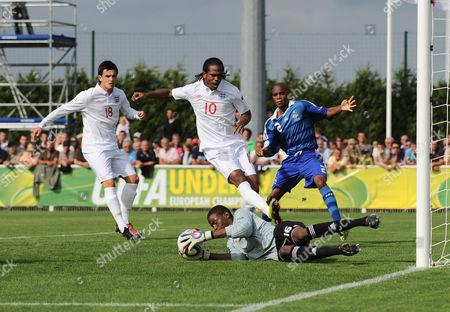 France U19 Goalkeeper Abdoulaye Diallo Denies Nathan Delfouneso of England U19