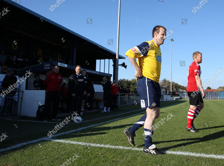 Steve Claridge of Gosport Borough Fc Takes to the Pitch