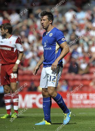 Sean St Ledger of Leicester City United Kingdom Middlesbrough
