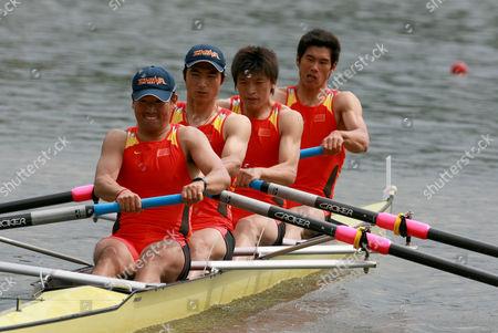 Shou Liu, Lei Shen, YongPing Chang and Shuljian Yu of China in the Men's Four