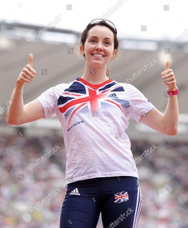 Stefanie Reid of Great Britain Poses For Photographers United Kingdom London